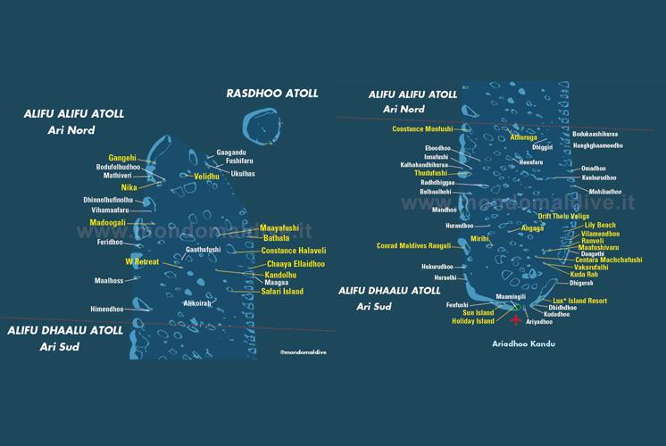 Carte de Atoll d'Ari