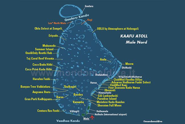 Carte de Atoll de Malé Nord