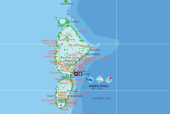 Carte de Atoll de Malé Sud