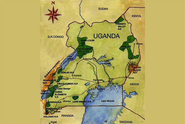 Carte de Parc National de Bwindi