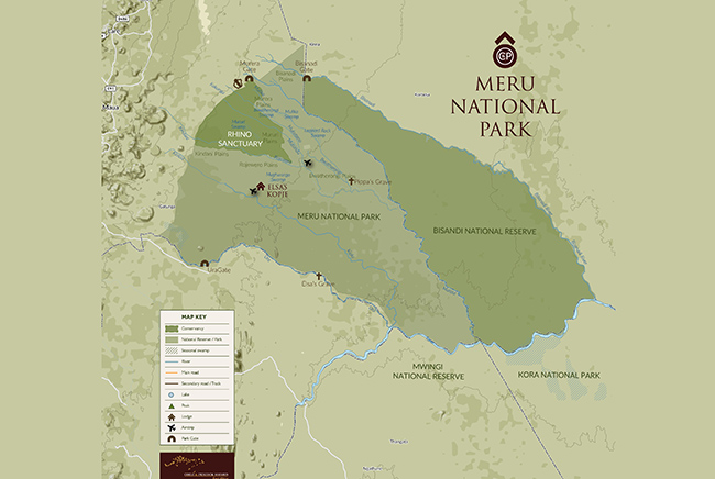 Carte de Parc National de Meru