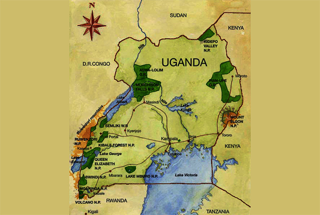 Carte de Parc National forêt de Kibale