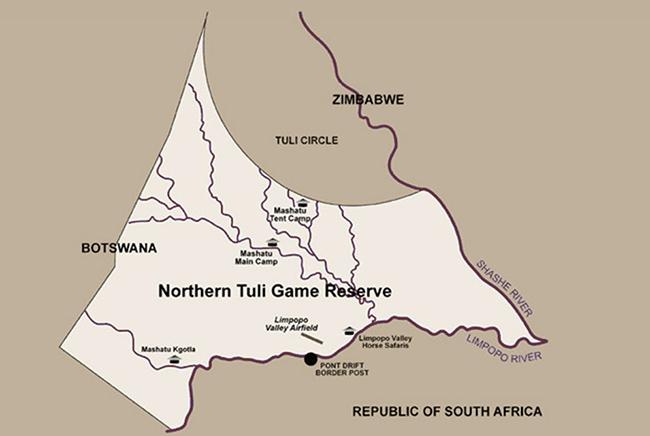 Carte de Réserve de Mashatu