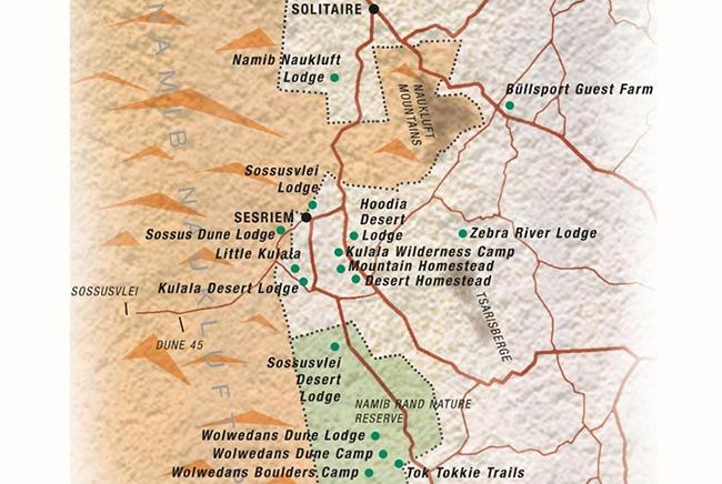 Carte de Réserve de NamibRand