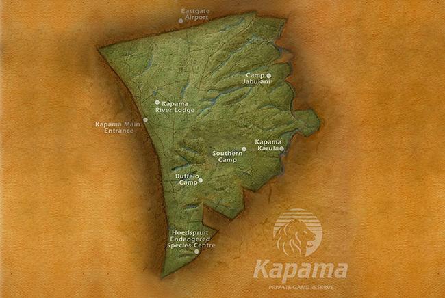 Carte de Réserve privée de Kapama