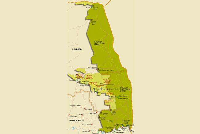 Carte de Réserve privée de Thornybush