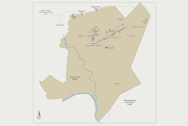 Carte de Réserve privée de Malilangwe