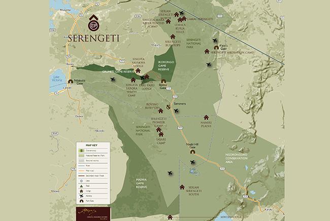 Carte de Serengeti-Réserve de Grumeti